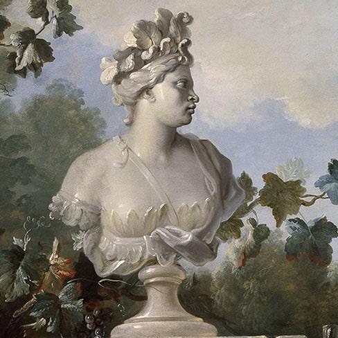 Détail de la Nature morte au buste de l'Amérique, Jean-Baptiste Oudry